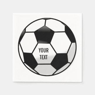 Personalized Soccer Ball with Custom Text Paper Serviettes