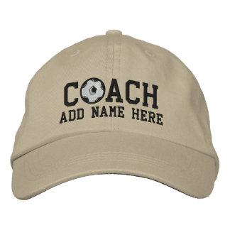 Personalized Soccer Coach Cap Embroidered Baseball Caps