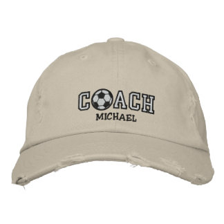 Personalized Soccer Coach Embroidered Hat