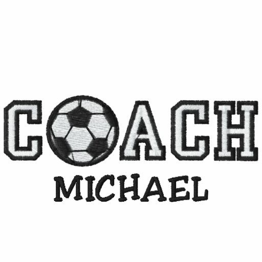 Personalized Soccer Coach Embroidered Polo Shirts