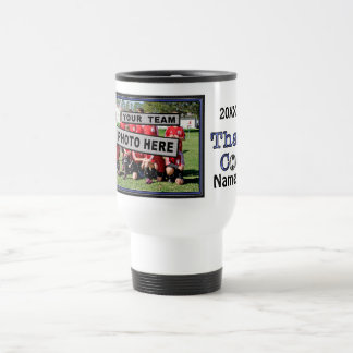 Personalized Soccer COACH Gifts Ideas PHOTO & NAME Travel Mug