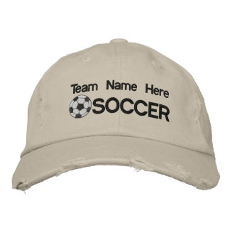 Personalized Soccer Embroidered Hat