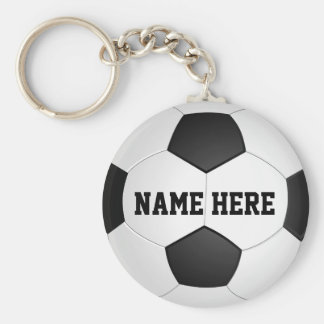 Personalized Soccer Gifts for Boys & Girls Basic Round Button Key Ring