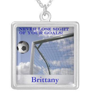 Personalized Soccer Goals Necklace