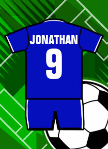 Personalized Soccer Jersey Blue with White iPad Air Cover 8f42849fa
