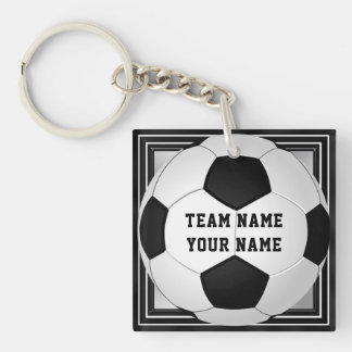 Personalized Soccer Keychains Text on Front, Back
