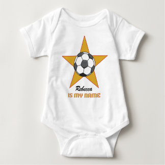 Personalized Soccer Star Baby Bodysuit