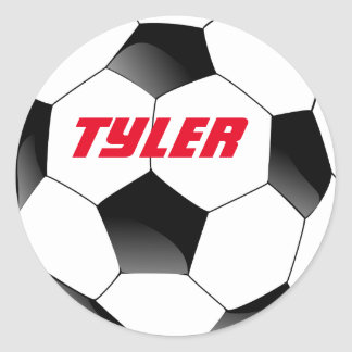 PERSONALIZED SOCCER STICKER