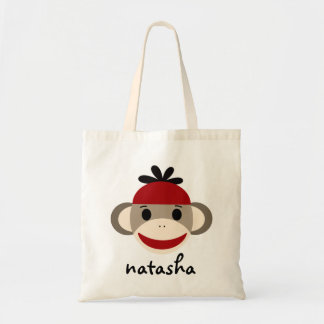 Personalized Sock Monkey Bookbag Bags
