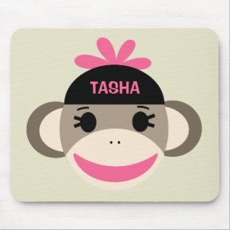 Personalized Sock Monkey Mousepad for Kids