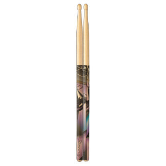 Personalized Soft Colored Fractal Drumsticks