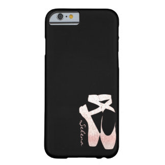 Personalized Soft Gradient Pink Ballet Shoes Barely There iPhone 6 Case