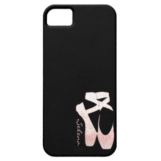 Personalized Soft Gradient Pink Ballet Shoes iPhone 5 Case