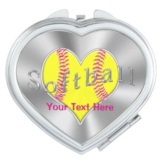 Personalized Softball Gifts for Girls Team Compact Mirror