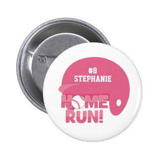 Personalized softball home run helmet button