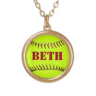 Personalized Softball Necklace