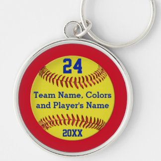 Personalized Softball Senior Gifts and Team Key Ring