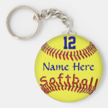 Personalized Softball Team Gift Ideas, NAME NUMBER Keychains