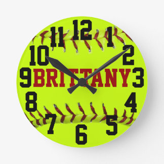 Personalized Softball Wall Clock