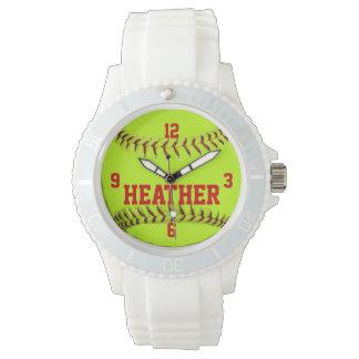 Personalized Softball Wrist Watch