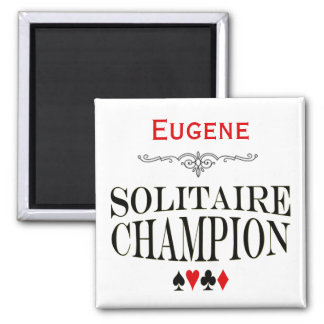 Personalized Solitaire Champion Magnet