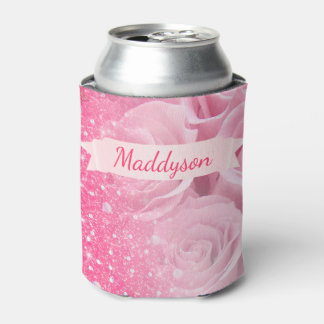 Personalized Sparkly Glitter Rose For Teen Girls Can Cooler