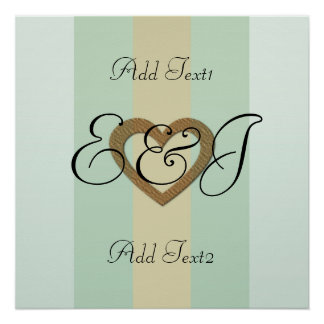 Personalized Special Occasion Gold Heart Poster
