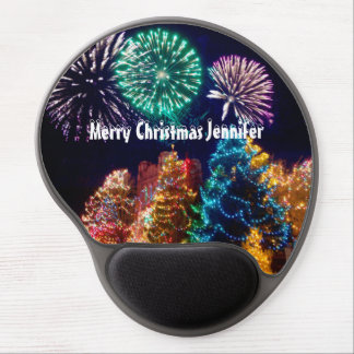 Personalized Spectacular Christmas Trees Gel Mouse Pad