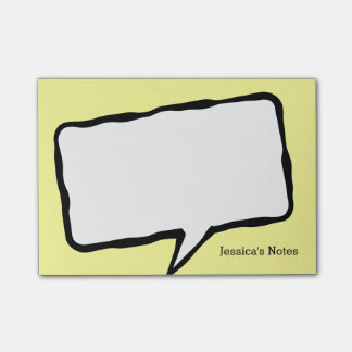 Personalized speech bubble yellow Post-it® notes