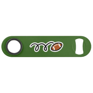 Personalized speed bottle opener for football fans
