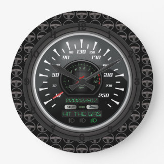 Personalized Speedometer Large Clock