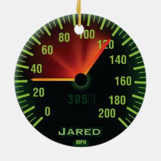 Personalized Speedometer Odometer Ornament