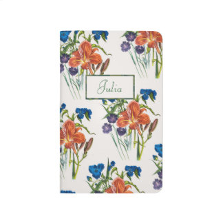 Personalized Spiderwort and Daylily Journal