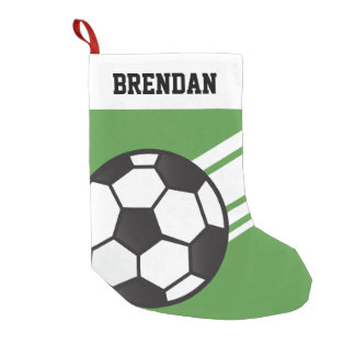 Personalized Sporty Stripes Soccer Ball Green