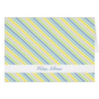 Personalized Spring Green Diagonal Thank You Cards