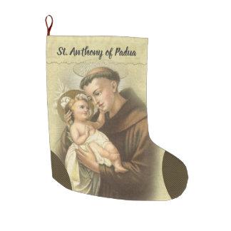 Personalized St. Anthony of Padua Prayer Large Christmas Stocking