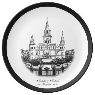 Personalized St Louis Cathedral Plate