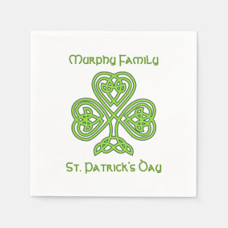 Personalized St. Patrick's Day Disposable Napkin