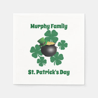 Personalized St. Patrick's Day Disposable Serviette