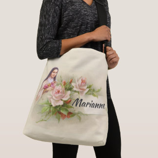 Personalized St. Therese the Little Flower Crossbody Bag