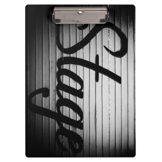 """Personalized """"Stage"""" Vintage Sign Clipboard"""