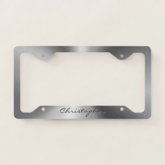 Personalized Stainless Steel Metallic Radial Licence Plate Frame