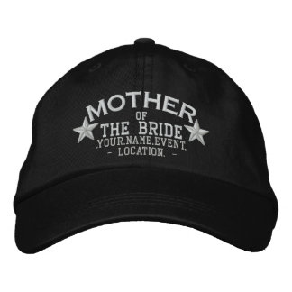 Personalized Stars Mother of the Bride Embroidery Embroidered Hat