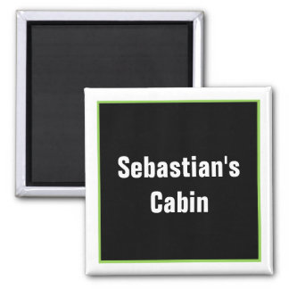 Personalized Stateroom Door Marker Square Magnet