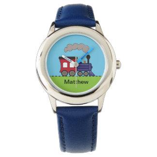 Personalized Steam Train Locomotive Watch