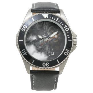Personalized Steam Train Locomotive Watch