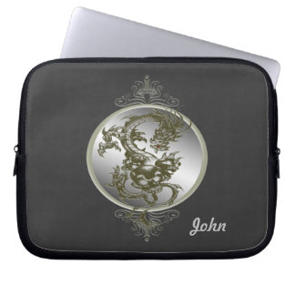 Personalized Steel Dragon Laptop Sleeve