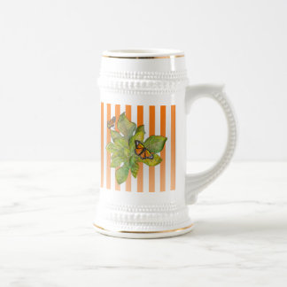 Personalized Stein with Butterflies & Leaves