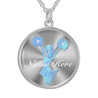 PERSONALIZED Sterling Silver Cheerleader Necklaces