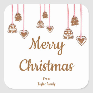 Personalized Sticker for Christmas Greeting
